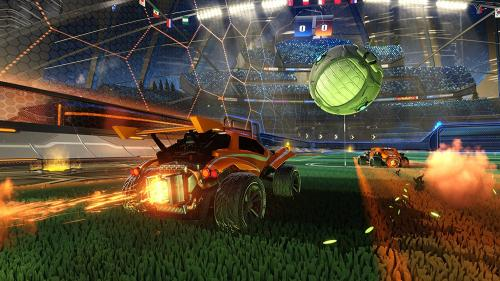 Rocket League is basically soccer except instead of application